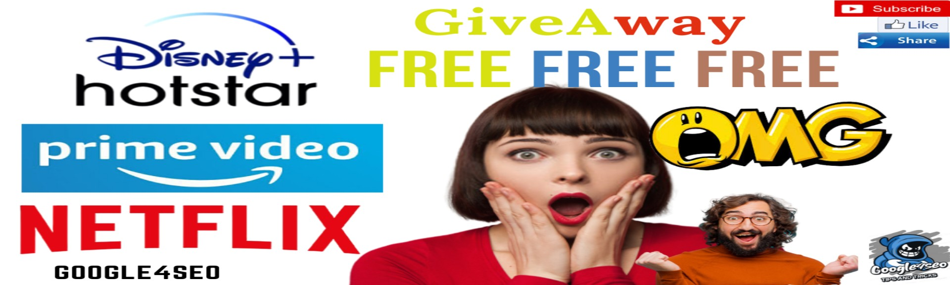 Free Netflix Amazonprimevideo Disney+ Hotstar l Freetricks2020