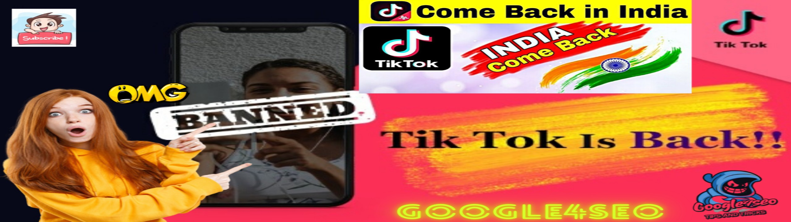 Tiktok Is Back l Great News For Tiktokers After 22 July l Returning Tiktok In India Google4seo